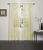 Lisa Sheer Voile Window Curtain Panel - Yellow