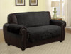 Quilted Microfiber Pet Dog Couch Furniture Protector Black - Loveseat