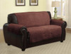 Quilted Microfiber Pet Dog Couch Furniture Protector Brown - Loveseat