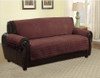 Quilted Microfiber Pet Dog Couch Furniture Protector Brown - Sofa