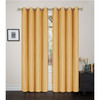 """Faux Silk Solid Color Grommet Blackout Panel, Maddie Single Window Curtain, 54""""x84"""""""