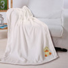 """Noble House Embroidery Baby Blanket, 30""""x40"""", Soft Plush Cozy Adorable Design"""