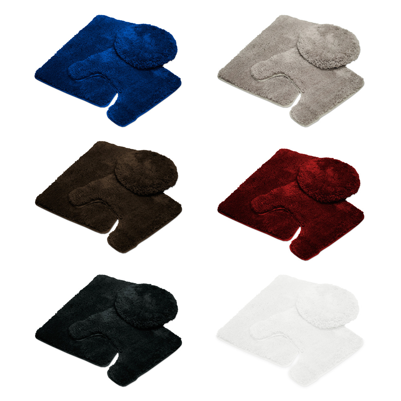 Mary 3 Piece Soft Plush Microfiber Rug Set  Bath Mat  Contour Rug  Lid. Mary 3 Piece Soft Plush Microfiber Rug Set  Bath Mat  Contour Rug