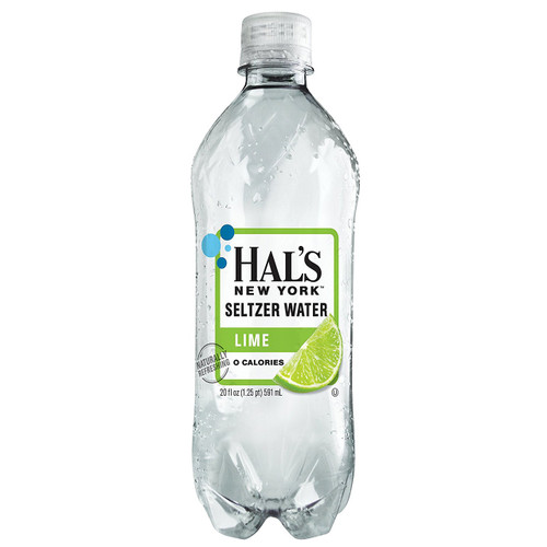 Hal's New York Seltzer Water Lime 20 Oz (24 Pack)