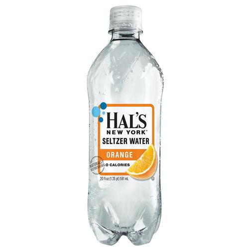 Hal's New York Seltzer Water Orange 20 Oz (24 Pack)