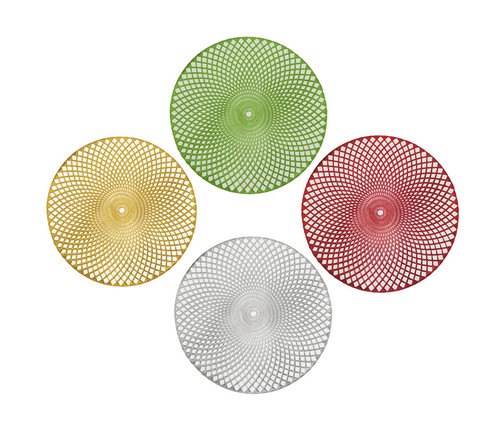 Holiday Decorative Round Vinyl Placemat