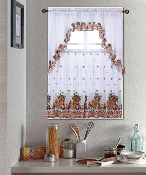Fruit Basket Kitchen Curtain Set