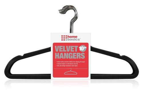 Black Slim Velvet Hangers