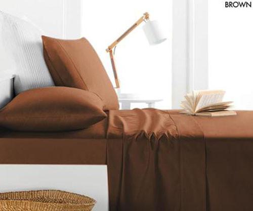 Allure Satin Collection 800 Thread 4 Piece Sheet Set - Brown