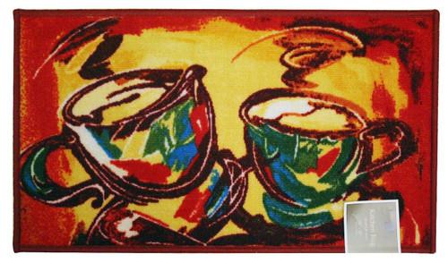 "Rectangle Latex Back Latte Kitchen Rug, Area Rug, Mat, Carpet – 18""x30"""