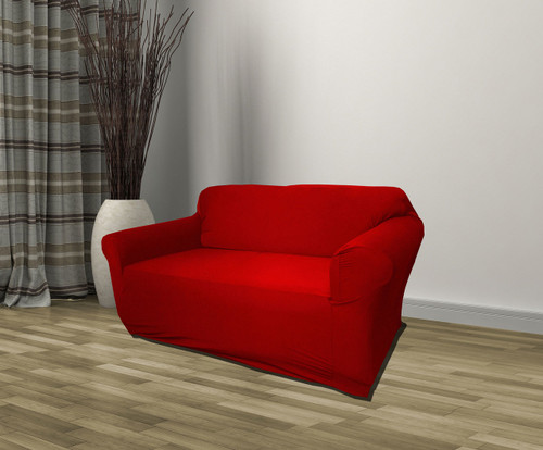 Kashi Home Jersey Slipcover Ruby Red