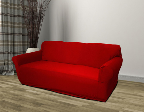 Kashi Home Jersey Slipcover Red - Sofa