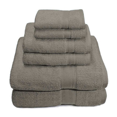 6 Piece 100% Premium Cotton Towel Set, Bath Towels, Hand Towels, Wash Cloths