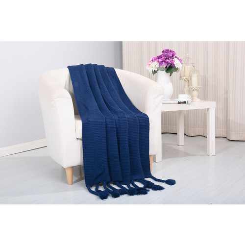 Camilla Knitted Throw Couch Cover Sofa Blanket, 50x60