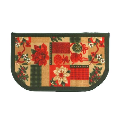 """Christmas Slice Kitchen Rug, Decor Mat, Christmas Gift - 18""""x30"""" D-Shape (K-KS054462)"""