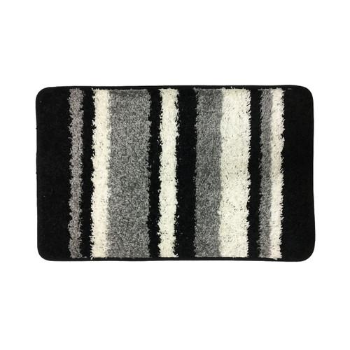 "Abby Stripe Bath Rug, 1 pc Bathroom Mat, 20""x32"", High Pile Polypropylene"