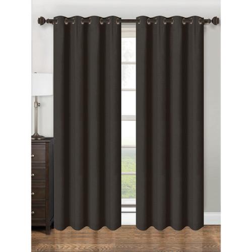 "Single Panel Parker Collection Window Treatment Curtain Panel 55""x 84"" Vibrant  Solid Design, Grommet Top Hanging Drape"