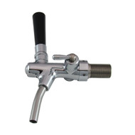 Euro Flow Control, Brass, Chrome plated, Flow Control, Self Closing, S/S Spout, with Shank
