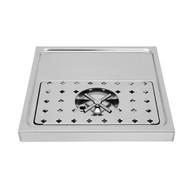 "Platform Drip Tray, 15 3/4"" x 15 3/4"", Rinser"