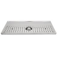 "Platform Drip Tray, 39 3/8"" x 19 5/8"", Rinser"