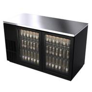"Back Bar ABBC-58G, 2 Glass doors, 58"""
