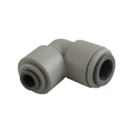 """John Guest Fitting, Gray Acetal 90° Elbow Reducer 3/8""""x1/4"""""""