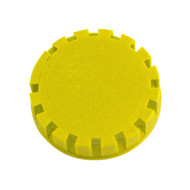 Tamper Evident Keg Cap, Type D Keg Cap, no logo, YELLOW