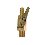 "Regulator Part, Shut - off valve with Ball Check, 5/16"" barb, metal knob"