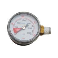 Regulator Part, 3000lbs Regulator gauge, Righthand thread