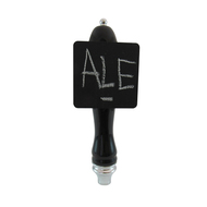 Ceramic Tap Handle A-291 with Chalkboard Square Plate, Black