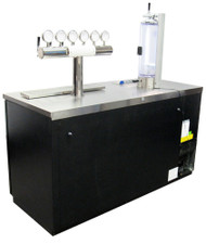 Glass Growler Filling Bar with Terra 6 Top LED and CrafTap 2.0 , CrafPad Light