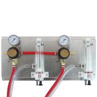 "Regulator Panel, Secondary panel with 2 Secondary Regulator and 2 FOBs, 3/16"" tubing"