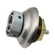"""Shank, St.Steel 1 3/4"""" with 3/16"""" Nipple, SS Flange"""