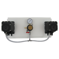 Wine panel with 2 Flojet pumps and 1 sec. reg