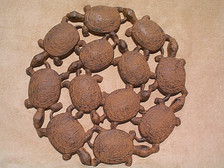 Dancing turtle plaque & stepping stone