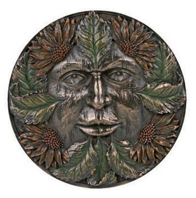 Green Man plaque ~ summer