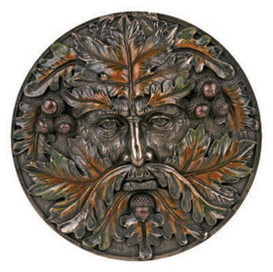 Autumn Green Man plaque ~ resin