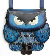Owl bag ~ blue