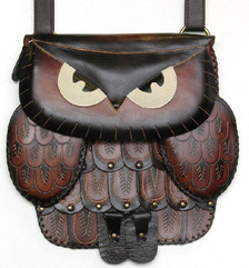 Owl bag ~ dark brown