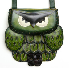 Owl bag ~ green