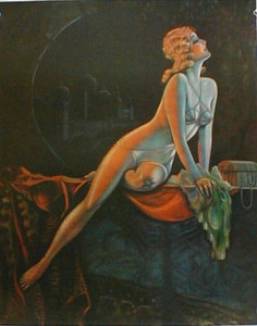"Art Deco ""Persian Night"" pin-up print ~ by T. Anaw Hesser"
