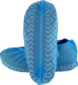 Blue Polypropylene Disposable Shoe Cover with Tread