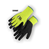 HI-VIS Terry Lined, Rubber Palmed Glove