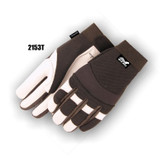 White Goatskin Lined Mechanics Glove