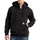 RAIN DEFENDER® PAXTON HEAVYWEIGHT HOODED ZIP MOCK SWEATSHIRT