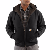 COLLINSTON BRUSHED FLEECE SHERPA-LINED SWEATSHIRT