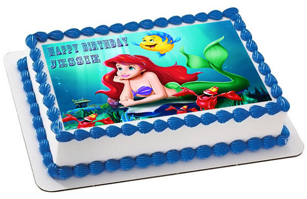 Edible Cake Images Little Mermaid : ARIEL THE LITTLE MERMAID 1 Edible Birthday Cake Topper