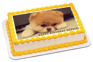 Puppy 1 Edible Birthday Cake Topper OR Cupcake Topper, Decor