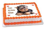 Puppy 2 Edible Birthday Cake Topper OR Cupcake Topper, Decor