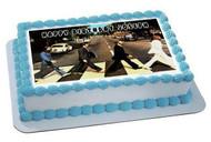 Beatles Abbey Road Edible Birthday Cake Topper OR Cupcake Topper, Decor